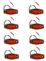 2Led Indicatori Lampada Spia Rv Campeggio Truck Rimorchio Ambra X8