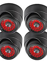 dome dummy fake ir surveillance beveiligingscamera's gesimuleerd 20 leds 4pc / verpakking