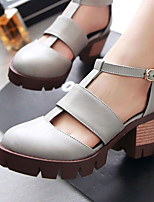Chaussures Femme-Habillé / Soirée & Evénement-Noir / Marron / Gris / Amande-Gros Talon-Talons / D'Orsay & Deux Pièces / Gladiateur-Talons-