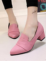 Women's Shoes Synthetic Chunky Heel Heels Heels Office & Career / Dress Black / Pink / Gray