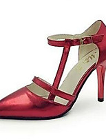 Women's Shoes Stiletto Heel Pointed Toe Heels Dress / Casual Red / Gold