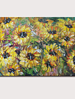Hand-Painted Abstract Landscape Modern Chrysanthemum Flowers Oil Painting On Canvas Ready To Hang One Panel
