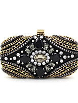 L.WEST® Women's Handmade High-grade Metal Chain Diamonds Party/Evening Bag