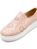 Women's Shoes Leatherette Low Heel Round Toe Loafers Casual Black / Pink / White