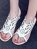 Women's Shoes Heel Flip Flops Sandals Outdoor / Dress / Casual Black / White / Silver / Gold/F26