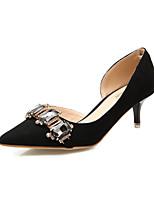 Zapatos de mujer-Tacón Stiletto-Tacones / Puntiagudos / Punta Cerrada-Tacones-Vestido-Ante-Negro / Gris