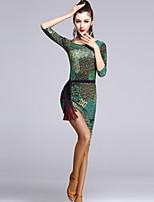 Latin Dance Dresses Women's Performance Viscose Draped 1 Piece Multi-color Latin Dance