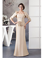 Trumpet/Mermaid Mother of the Bride Dress-Champagne Floor-length Taffeta