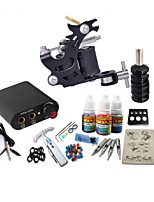 Basekey Tattoo Kit JH558  1 Machine With Power Supply Grips 3x10ML Ink