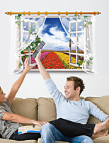 Florals Landscape Wall Stickers Window Florals / Landscape / 3D Wall Stickers 3D Wall Stickers,PVC 90*60cm