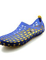 Masculino-Sandálias-Conforto-Rasteiro-Preto / Azul / Verde / Preto e Vermelho / Caqui-Silicone-Ar-Livre / Casual