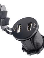 12-24v 4.2a moto automobile double usb chargeur de téléphone mobile avec un voltmètre
