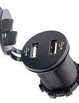 12-24V 4.2a moto automobile Dual USB caricabatterie cellulare con voltmetro