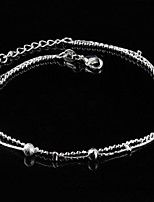 Women's Fashion Platinum Plated Beads Anklets