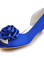 Women's Wedding Shoes Heels / Peep Toe / Round Toe Sandals Wedding / Party & Evening / Dress Blue