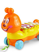 Small Trailer Music Toy Plastic Blue / Yellow / Orange