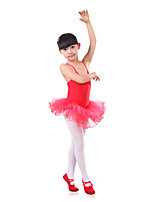 Ballet Children's Training Spandex / Tulle Pleated Strap Dresses Dance Costumes