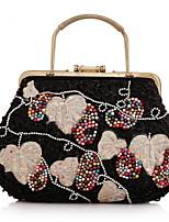 Women Acrylic Baguette Clutch / Evening Bag / Wallet / Coin Purse-Black