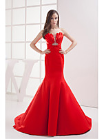 Formal Evening Dress-Ruby Trumpet/Mermaid Strapless Court Train Satin