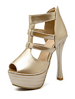 Women's Shoes Synthetic / Leatherette Stiletto Heel Heels / Peep Toe / Flip Flops Heels / LoafersWedding