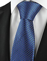 New Plaid Checked Navy Classic Mens Tie Formal Suit Necktie Holiday Gift KT1032