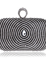 Women Metal Minaudiere Evening Bag-Gold / Black