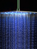 Monochrome LED Shower Nozzle Top Spray Shower Nozzle (Blue)(16 Inch)