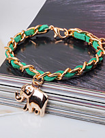 Unisex Chain Bracelet Silver / Alloy / Leather / Rope Non Stone