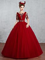 웨딩 드레스-루비 프린세스 바닥 길이 바토 튤
