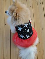 Sweety Comfortable Star Pattern Pet Dress