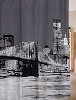 Great Thicker Version Of The Eiffel Tower Flower Polyester Shower Curtain