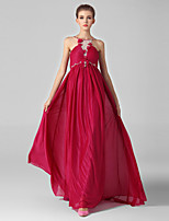 Formal Evening Dress Ball Gown Jewel Sweep/Brush Train Chiffon / Tulle