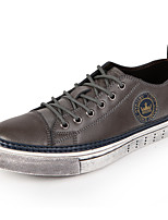 Men's Shoes Office & Career / Casual Leather Fashion Sneakers / Athletic Shoes / Espadrilles Gray