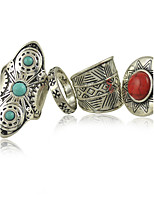 Women's Alloy Ring Turquoise Alloy   4Pieces