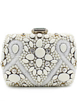 L.WEST® Women's Handmade Pearl Inlaid Diamonds Party/Evening Bag