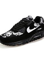 Zapatos Sneakers Semicuero Rojo / Blanco Hombre