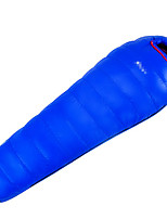 400g Duck Down Nylon Lining Single Mummy Bag for Camping and Hiking