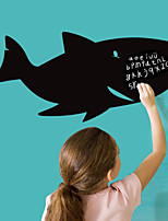 3D Wall Stickers Wall Decals Style Cartoon Big Shark Blackboard Waterproof Removable PVC Wall Stickers