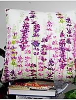 Coton / Coton/Lin Housse de coussin / Taie d'oreiller / Oreiller / Couvertures,Floral / Toile Rustique / Décoratif / Extérieur
