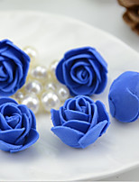 20PCS/Bag Can Mix Color Mini PE Foam Rose Flower Heads Artificial Rose Handmade DIY Wedding Home Decoration