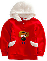 Girl's Red / Yellow Hoodie & Sweatshirt Cotton Spring / Fall