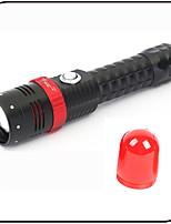 CREE XML T6 Led Flashlight/Torch With Magnet 5 Mode Zoomable Signal Lamp/ Aluminium Alloy/ Rechargeable/2 in 1 Function