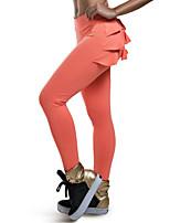Women Solid Color Legging,Spandex Medium