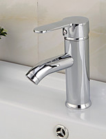 Waterfall Bathroom Sink Faucet Contemporary Chrome Stainless Steel Centerset