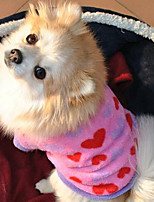 Exquisite Comfortable Coral Fleece Heart Pet Coat