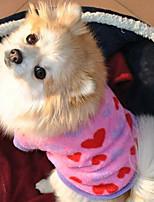 Cães Casacos / Roupa / vestuário Rosa Inverno / Verão / Primavera/Outono Clássico / Corações S. Valentim / Da Moda-Lovoyager