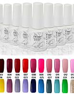 Newest Popular Top Fashion Non-toxic Soak-off UV & LED Resin Gel Polish (9ml,1-38 Colors)