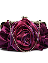 L.WEST® Women's Handmade High-grade Flower Diamond Silks And Satins Party/Evening Bag