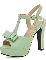 Women's Shoes Chunky Heels/Platform/Sling back/Open Toe Sandals Party & Evening/Dress Black/Green/Pink/Beige
