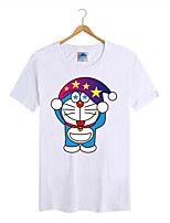Men's Cotton Lycra Doraemon T-shirt 1Pc